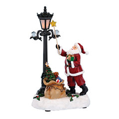 Roman Musical LED Santa Lighting Lamp Figurine