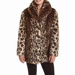 Excelled® Faux-Fur Short Jacket