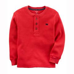 Carter's Long Sleeve Henley Shirt - Toddler Boys