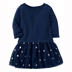 Carter's Long Sleeve Tutu Dress - Baby Girls