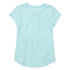 Arizona Short Sleeve Crew Neck T-Shirt-Big Kid Girls
