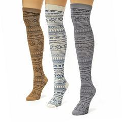 MUK LUKS® Womens 3-pk. Microfiber Over-the-Knee Socks