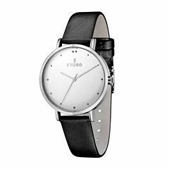 Fjord Womens Black Strap Watch-Fj-6019-02