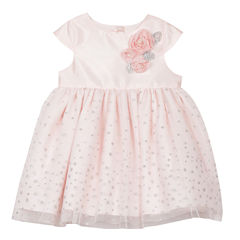 Marmellata Short Sleeve Confetti A-Line Dress - Baby Girls