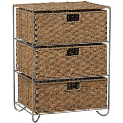 Household Essentials® Seagrass/Rattan 3-Drawer Chest