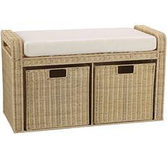 Household Essentials® Rattan Storage Seat