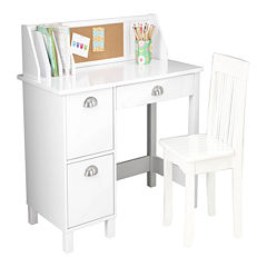KidKraft® Study Desk with Drawers - White