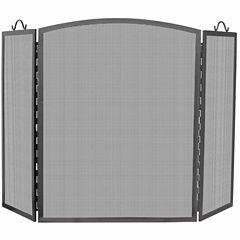 Blue Rhino 3 Panel Olde World Iron Arch Top Fireplace Screen