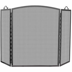 Blue Rhino 3 Panel Olde World Iron Arch Top Fireplace Screen