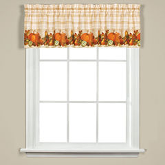Saturday Knight Harvest Bounty Rod-Pocket Tailored Valance
