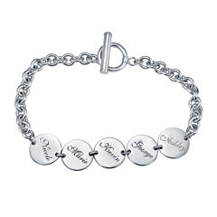 Personalized Disk Family Bracelet