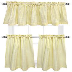 Seersucker Set of 2 Rod-Pocket Cotton Window Tiers