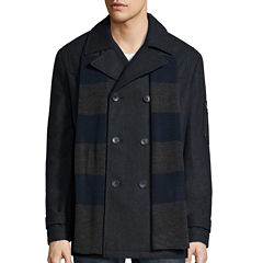 IZOD® Wool Peacoat with Rugby Scarf