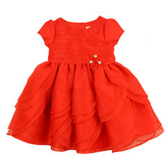 Nanette Baby Short Sleeve Party Dress - Toddler Girls