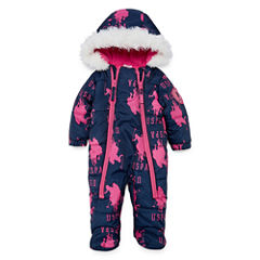 Us Polo Assn. Pram Heavyweight Logo Snow Suit-Baby Girls
