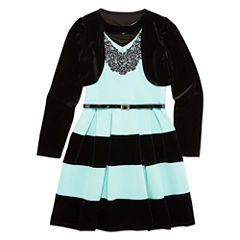 Speechless Sleeveless Skater Dress - Big Kid Girls