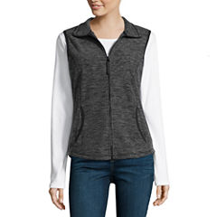 St. John's Bay Active Fleece Vest- Talls