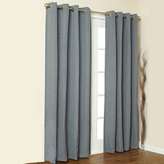 Cite Solid Grommet-Top Curtain Panel