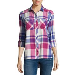 Columbia Sportswear Co. Long Sleeve Plaid Button-Front Shirt