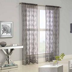 Mona Lisa Rod-Pocket Sheer Curtain Panel