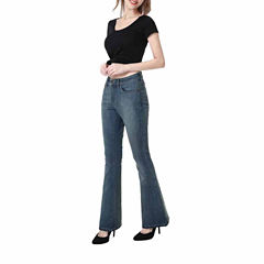 phistic Women's Melanie Zip Front Flare Jeans