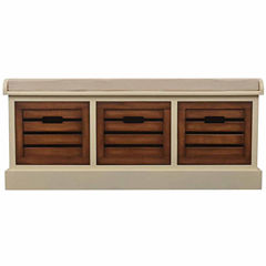 Decor Therapy Melody Storage Bench
