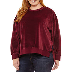 a.n.a Long Sleeve Sweatshirt-Plus