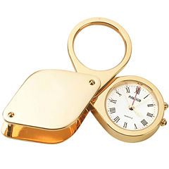 Natico Travel Alarm with Magnifier and Leather Case