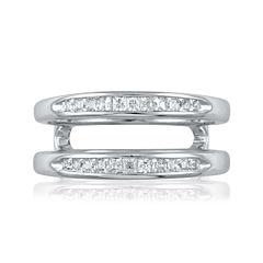 3/8 CT. T.W. Diamond 14K White Gold Ring Enhancer