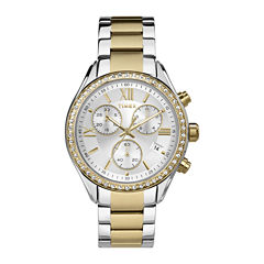 Timex® Elevated Classic Womens Chronograph Two-Tone Stainless Steel Bracelet Watch TW2P67000AB