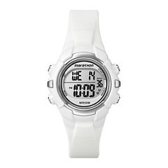 Marathon by Timex® Womens White Resin Strap Digital Watch T5K806M6