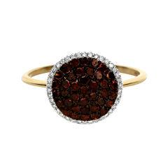LIMITED QUANTITIES 1/2 CT. T.W. White and Color-Enhanced Cognac Diamond Ring