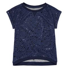 Total Girl Short Sleeve Sweatshirt - Big Kid Girls