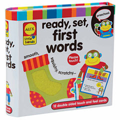 ALEX TOYS Little Hands Touch And Feel Flash Cards 1st Words 12-pc. Interactive Toy - Unisex