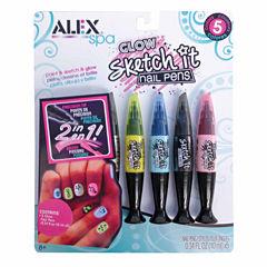 Alex Toys Spa Glow Sketch It Nail Pens 5-pc. Beauty Toy