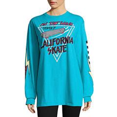 City Streets Long Sleeve Sweatshirt-Juniors