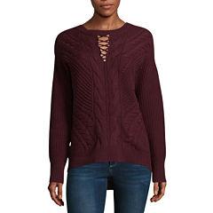 a.n.a Long Sleeve Keyhole Sweater