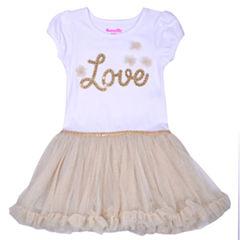 Nanette Baby Short Sleeve Tutu Dress - Preschool Girls