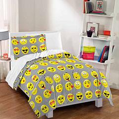 Dream Factory Emoji Comforter And Sham Set