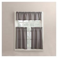 Martine 3-pc. Rod-Pocket Kitchen Curtain Set