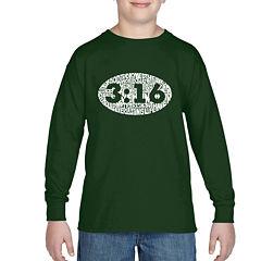 Los Angeles Pop Art The Verse John 316 Graphic T-Shirt-Big Kid Boys