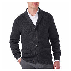 Haggar Long Sleeve Sweater Knit Cardigan