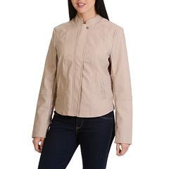 Larry Levine Pu Notch Collar Jacket
