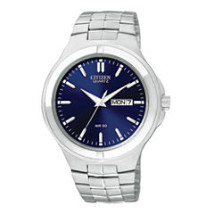 Citizen® Mens Blue Dial Stainless Steel Watch BF0590-53L