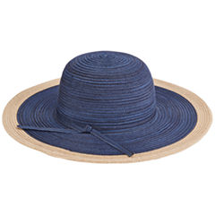 San Diego Hat Company Women's Mix Sun Brim Self Tie