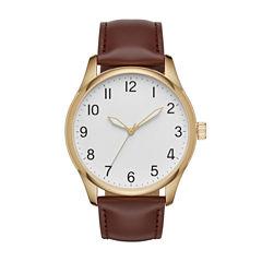 Mens Brown Strap Watch-Fmdjo122