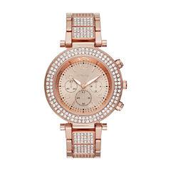 Geneva Womens Rose Goldtone Bracelet Watch-Fmdjm185