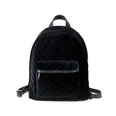 Velvet Quilted Backpack