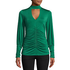 Bisou Bisou Shirred Slinky Top