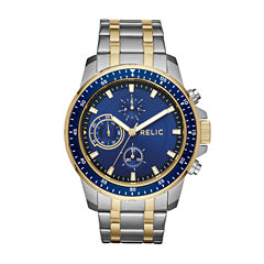 Relic Mens Two Tone Strap Watch-Zr15929